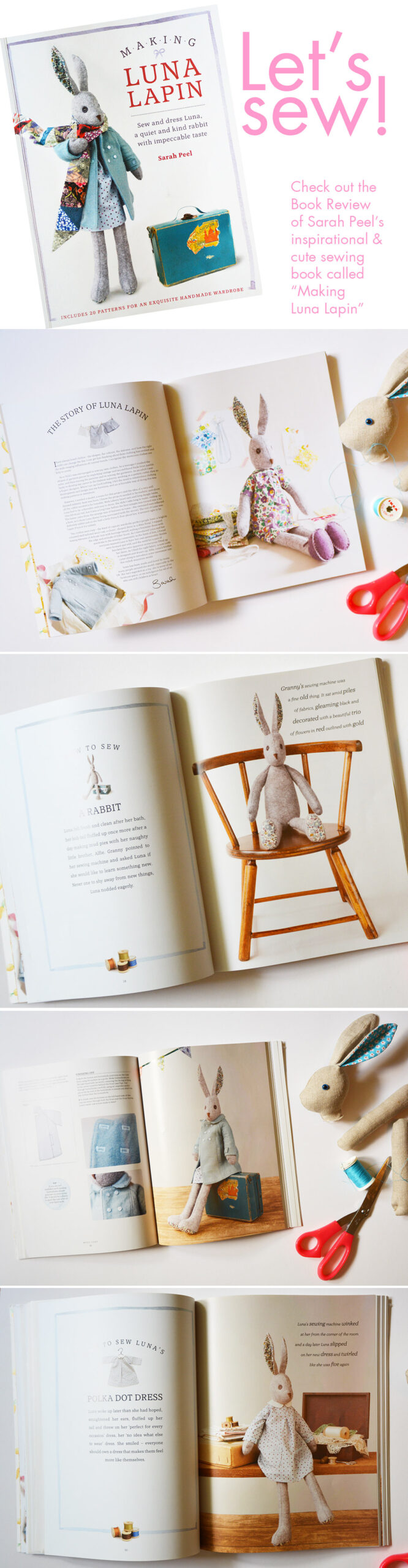 Making Luna Lapin - a craft book by Sarah Peel - review by iHanna