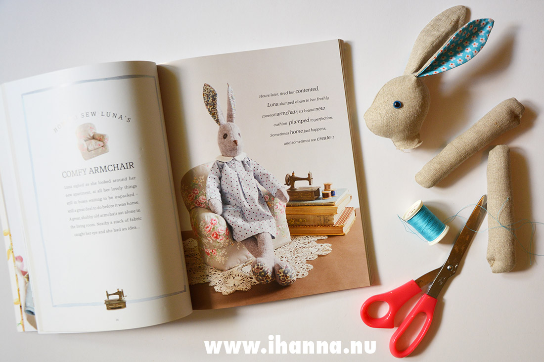 Spread from the book Making Luna Lapin - photograph by iHanna
