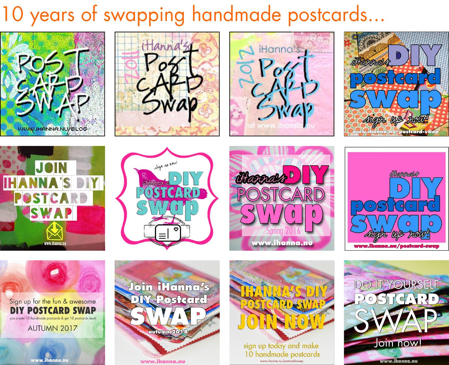 10 years anniversary of the DIY Postcard Swap #diyPostcardSwap