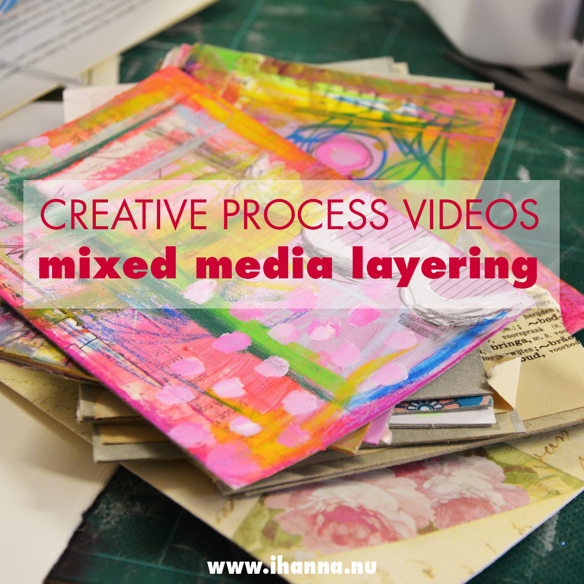 Watch iHanna create mixed media layers in this series of videos #creativity