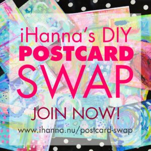 iHanna's DIY Postcard Swap spring 2020 - Join now! #diypostcardswap