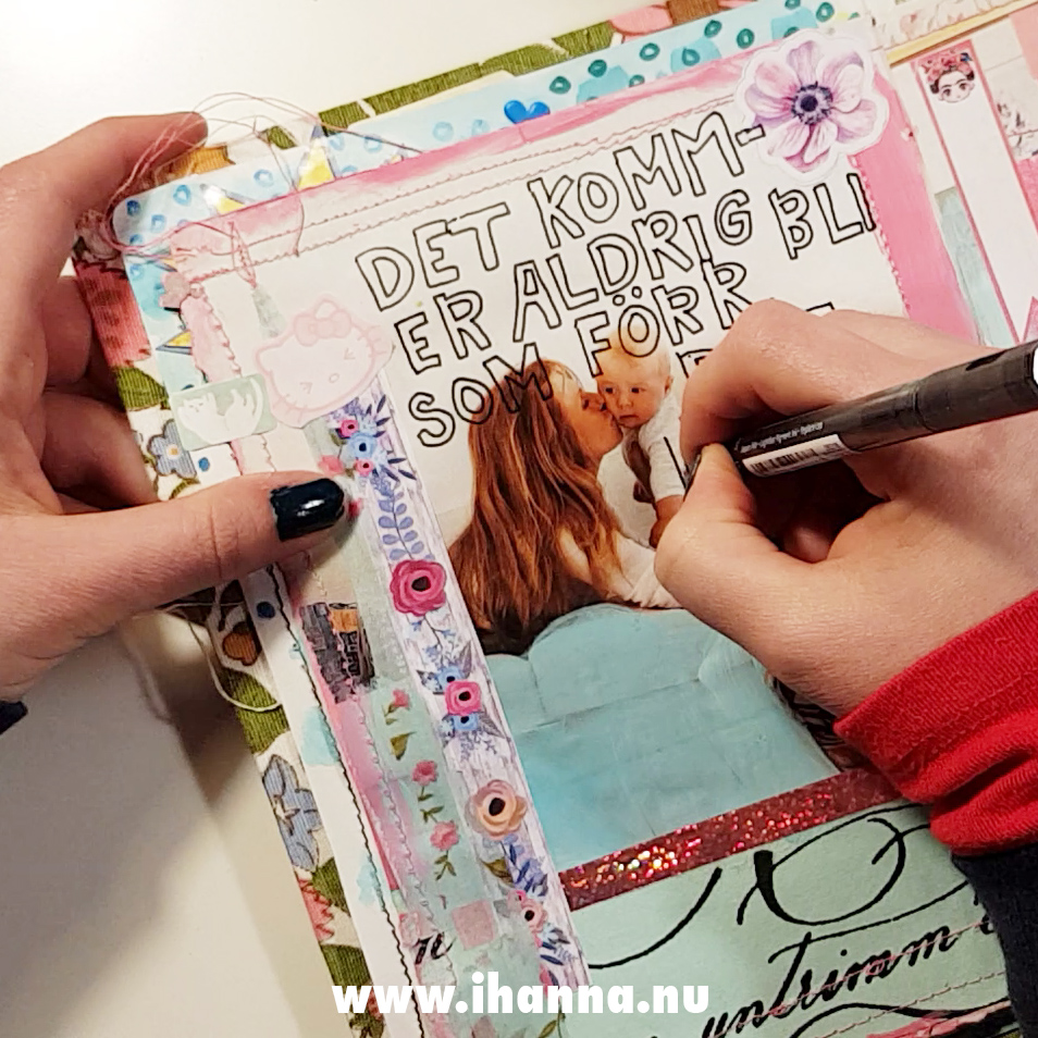 Process Video: Junk Journaling another page