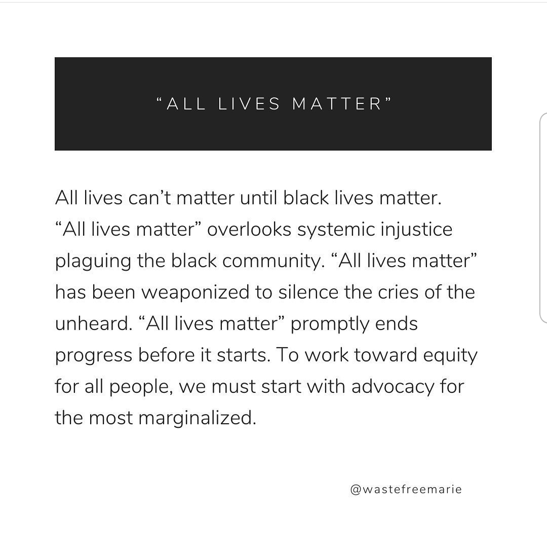 Black (not all) lives matter reasoning by