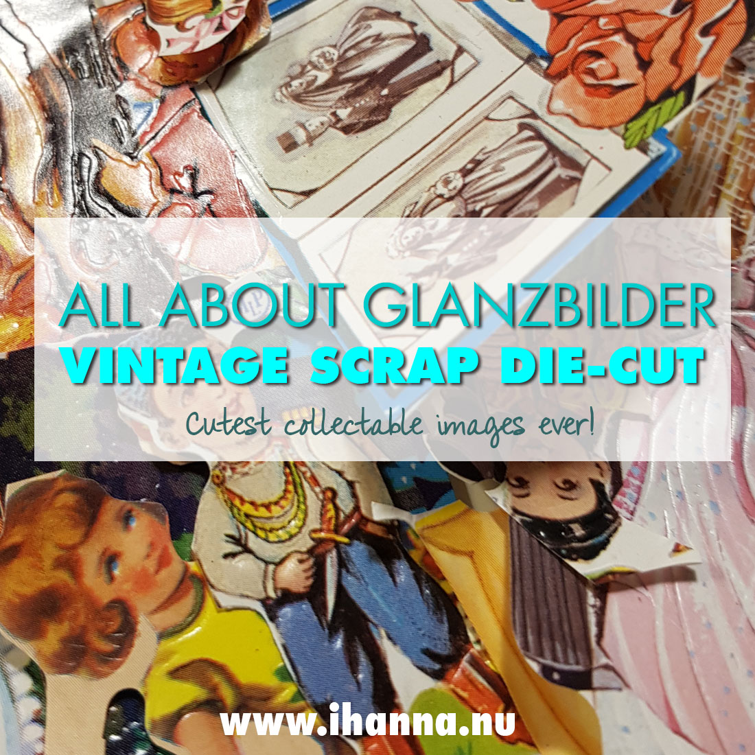 Collectible vintage Scrap die-cuts | Glanzebilder or Bokmärken