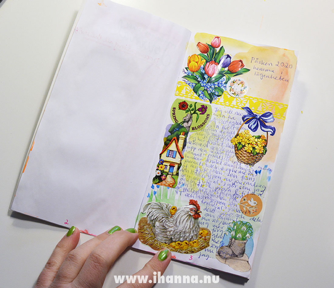 Scrap die cut used in journaling by iHanna