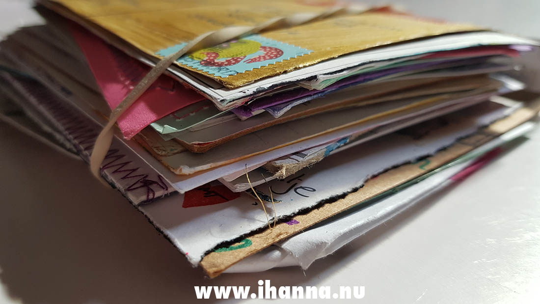 DIY Postcard Abundance - one of the piles I got this spring in the Postcard Swap's 10th year
