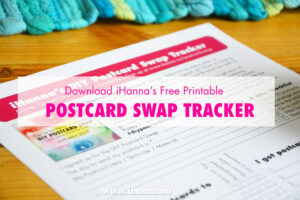 Download the free DIY Postcard swap tracker