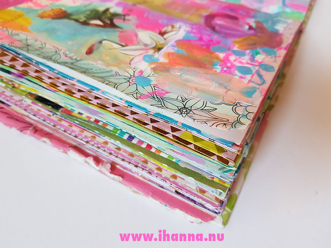 Boken till dig with gilded edges altered book by iHanna