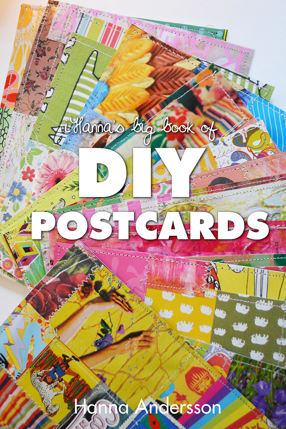 Mockup of DIY Postcard Book cover by Hanna Andersson aka iHanna - pre-order your copy now