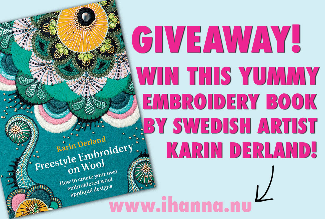 Giveaway & book review: Freestyle Embroidery on Wool by Karin Derland