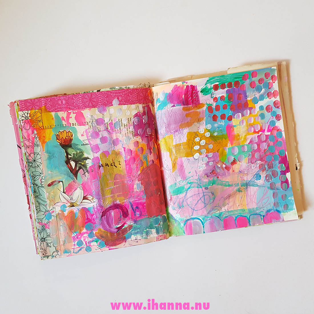 Never too much on a page by Hanna Andersson / iHanna #artjournaling