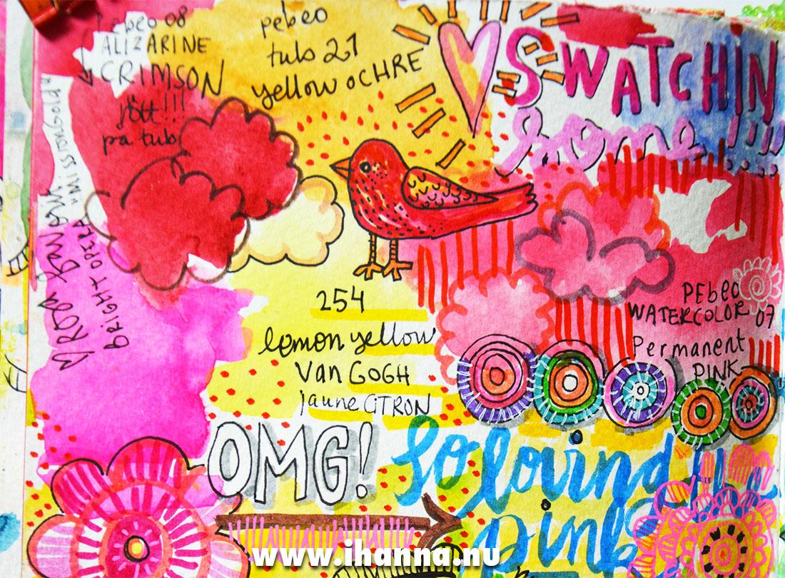 Art journal detail by iHanna - entire flip-through on the blog www.ihanna.nu