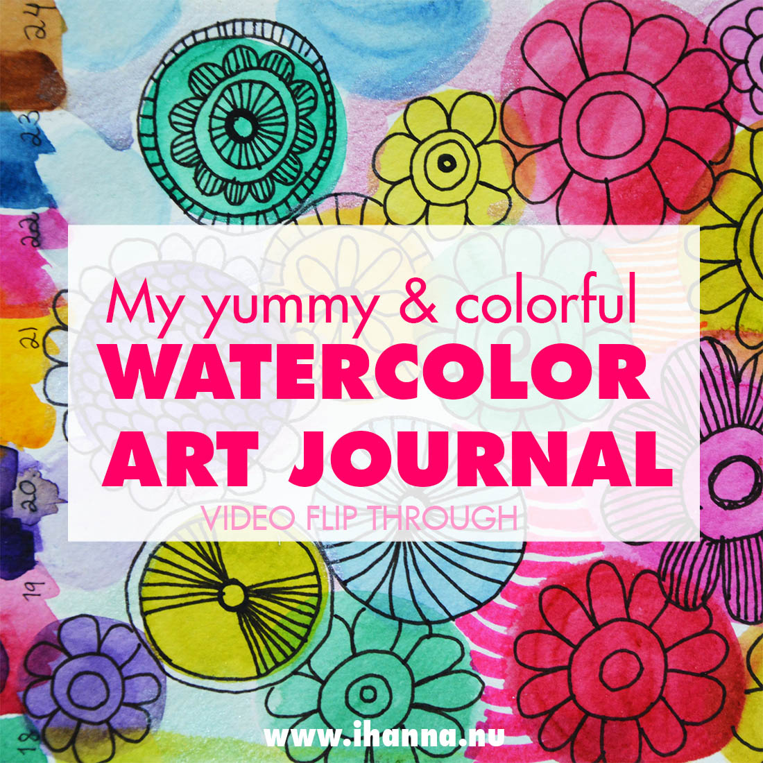 Watercolor Art Journal flip-through