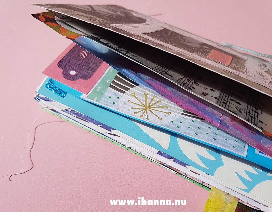 Junk journal as a birthday card made by iHanna