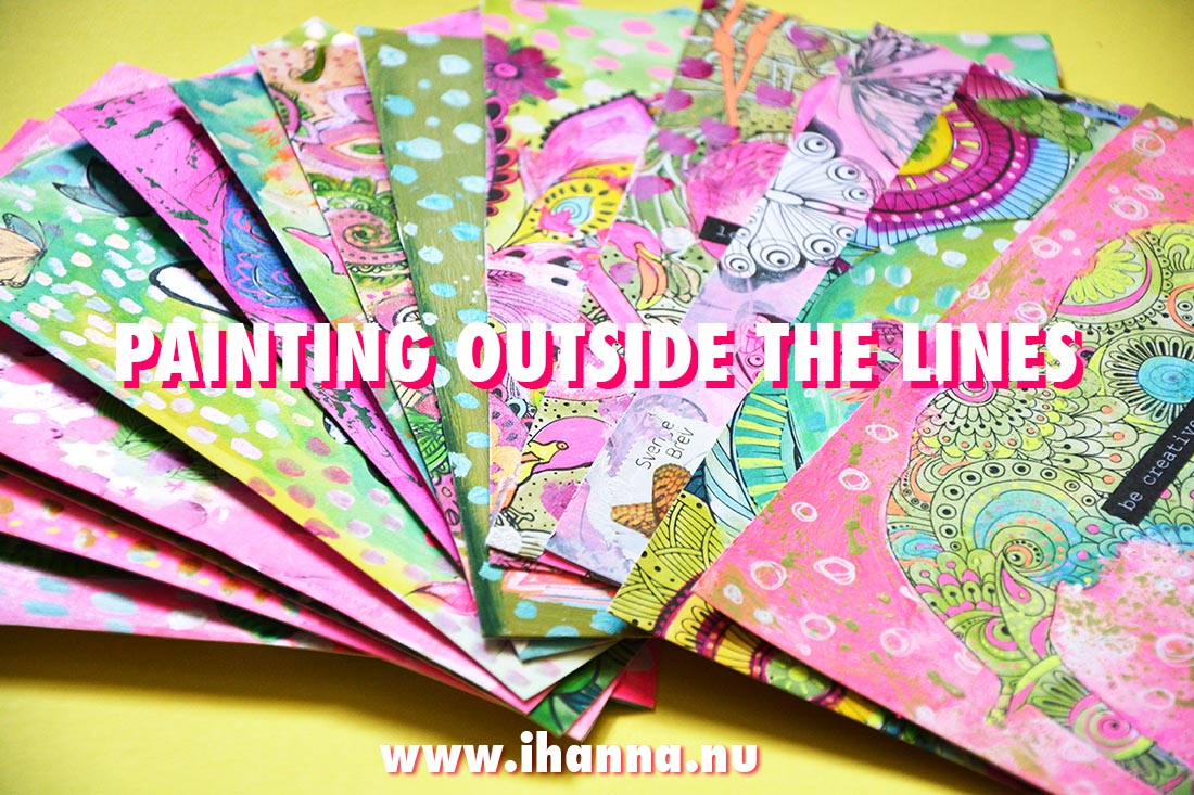 Painting outside the lines DIY Postcard Idea Tutorial with video