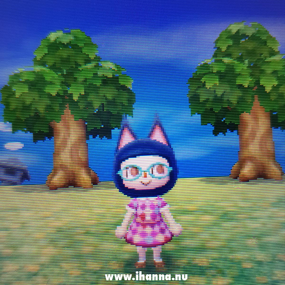Animal Crossing NL with iHanna as the Mayer