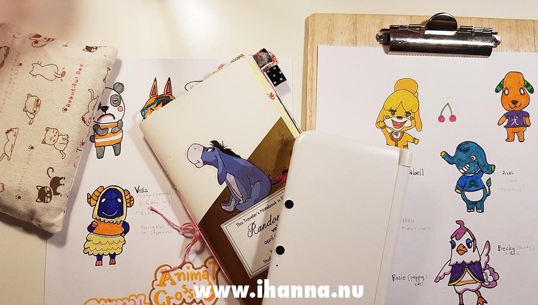Animal Crossing New Horizon doodled illustration by iHanna Copyright Hanna Andersson