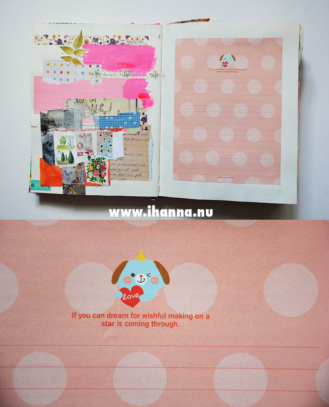 Altered book collage art journal by iHanna aka Hanna Andersson