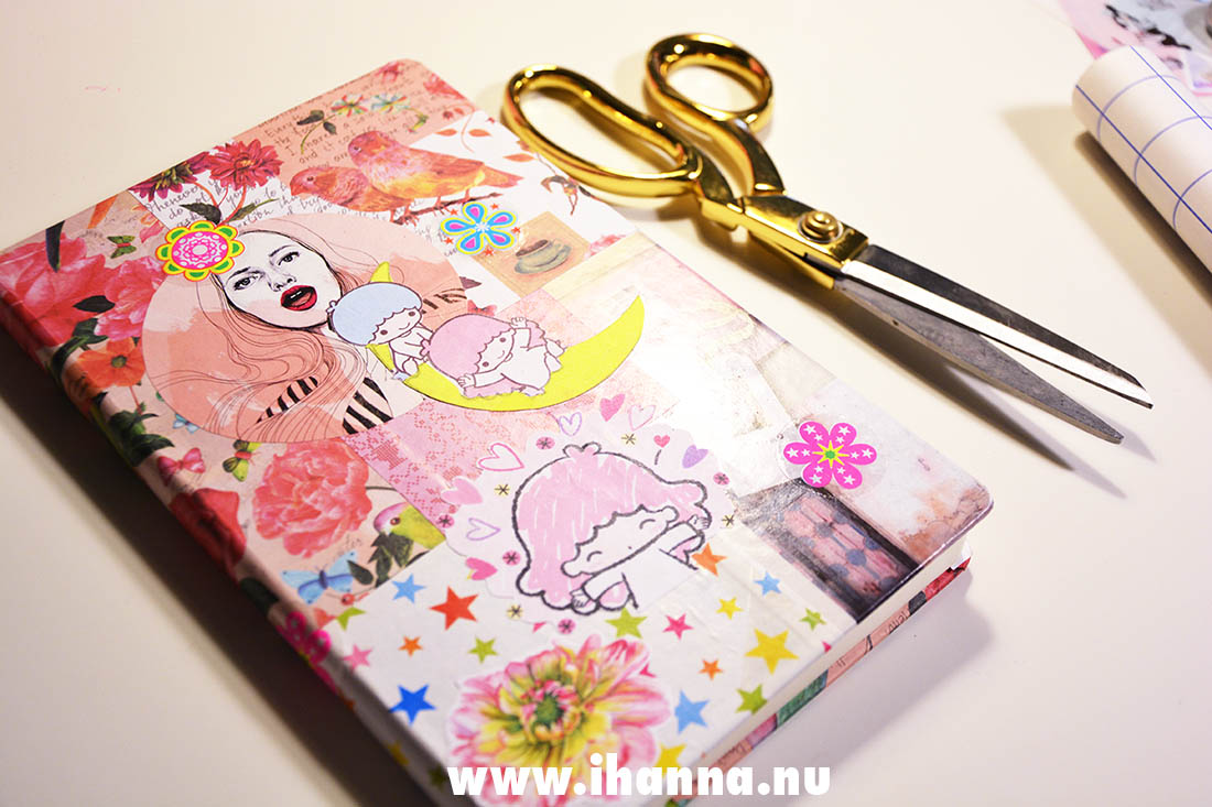 Finished diary cover with collage by iHanna