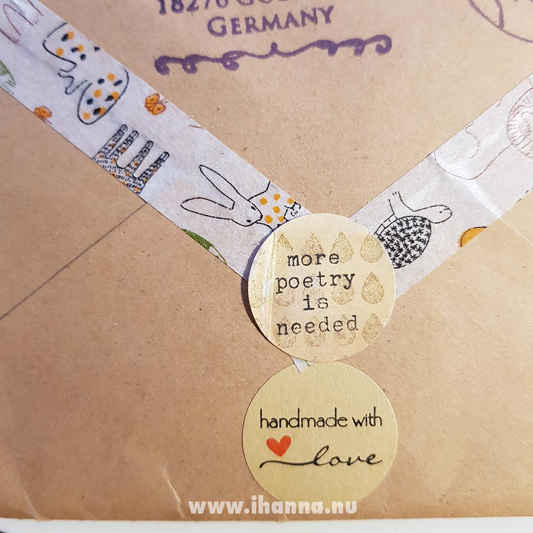 More poetry is needed sticker on Happy mail Envelope (back) from Franca Maria to iHanna #snailmail