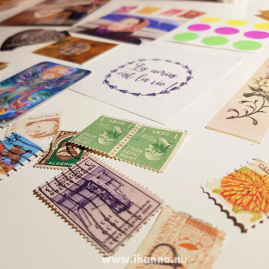 Happy mail cancelled postal stamps from Franca Maria to iHanna