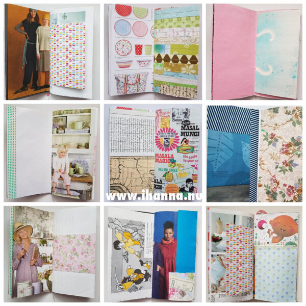 Pages inside the Junk Journal no 003
