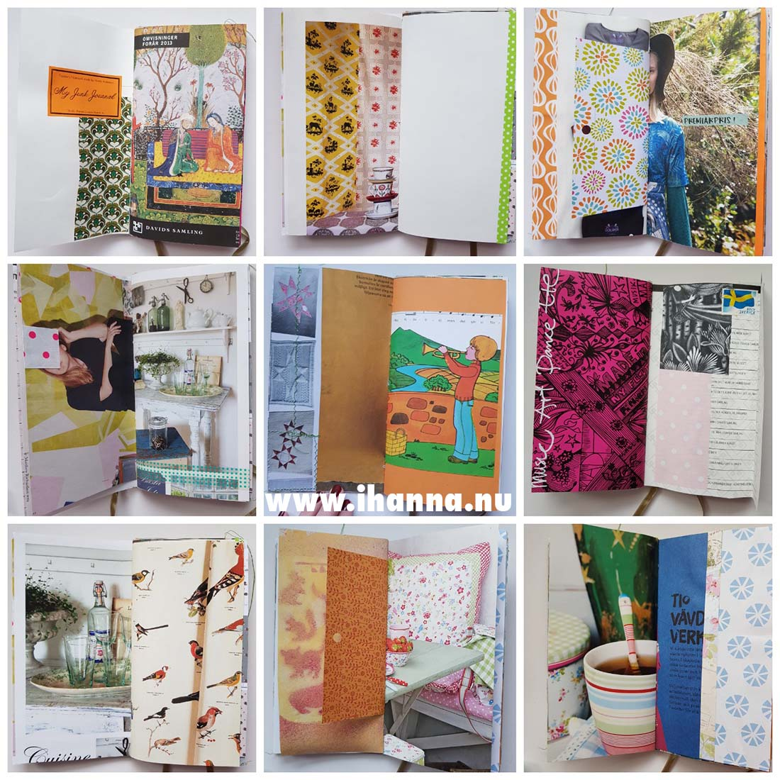 Some of the pages of Junk Journal no 004 #junkjournal