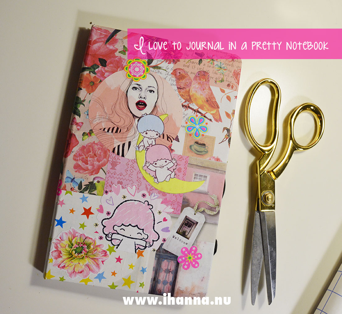 Patchwork Collage Cover by iHanna - I love to journal in pretty notebooks