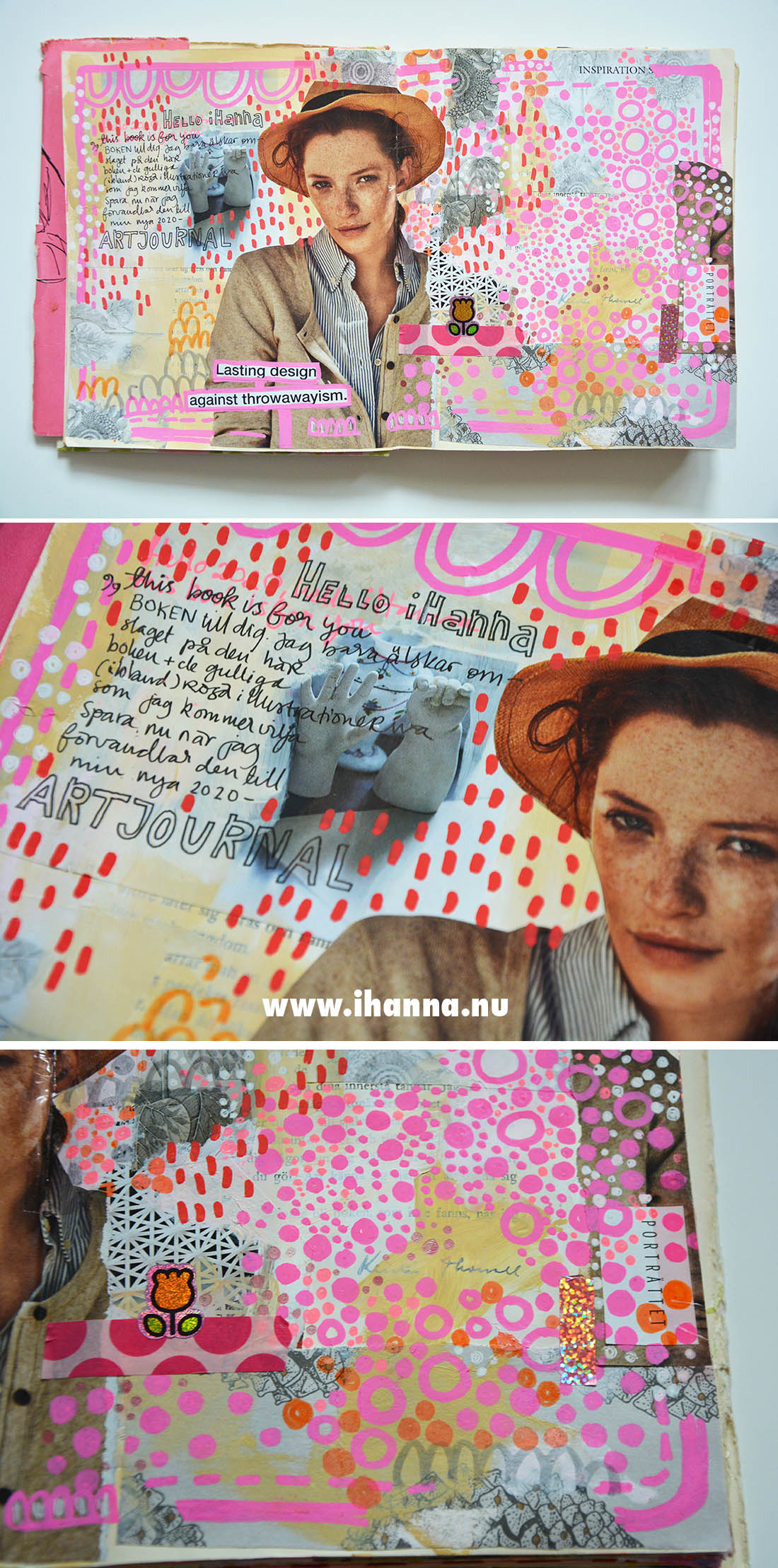 Pink Pages in my Art Journal by iHanna