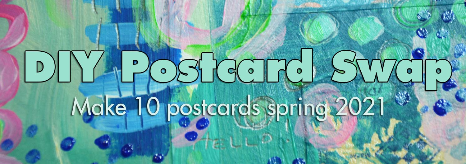 DIY Postcard Swap spring 2021 - welcome to join now! #diypostcardswap
