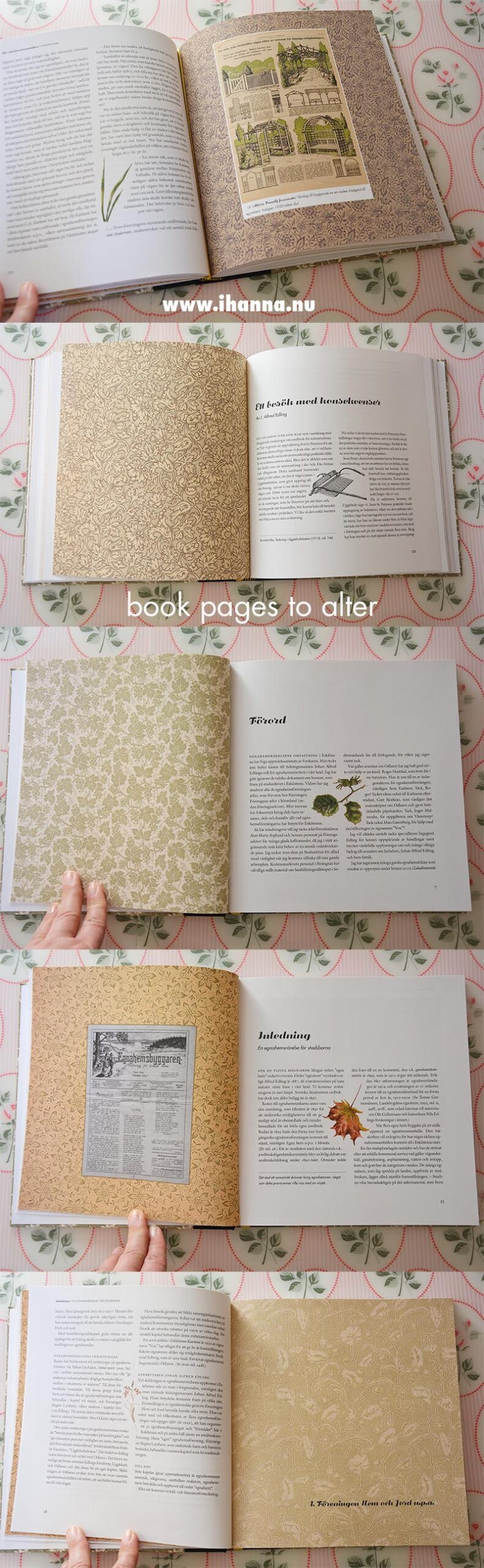 Book pages to alter or tear out from this soon to be Art Journal with yummy end paper pages inside