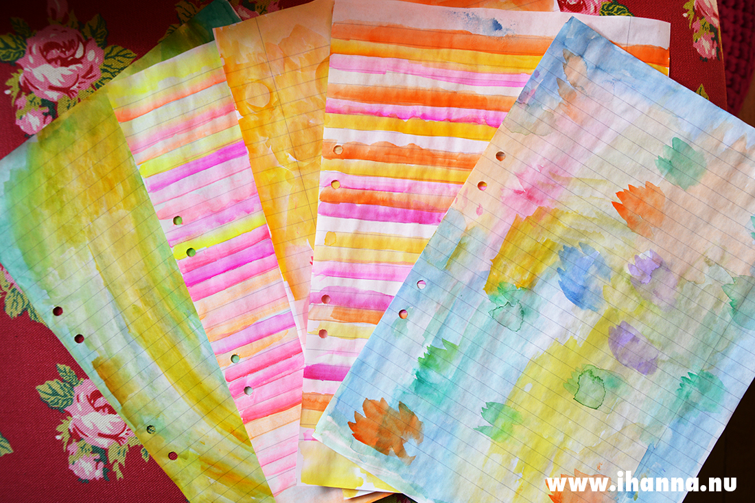Painted letter writing papers by iHanna