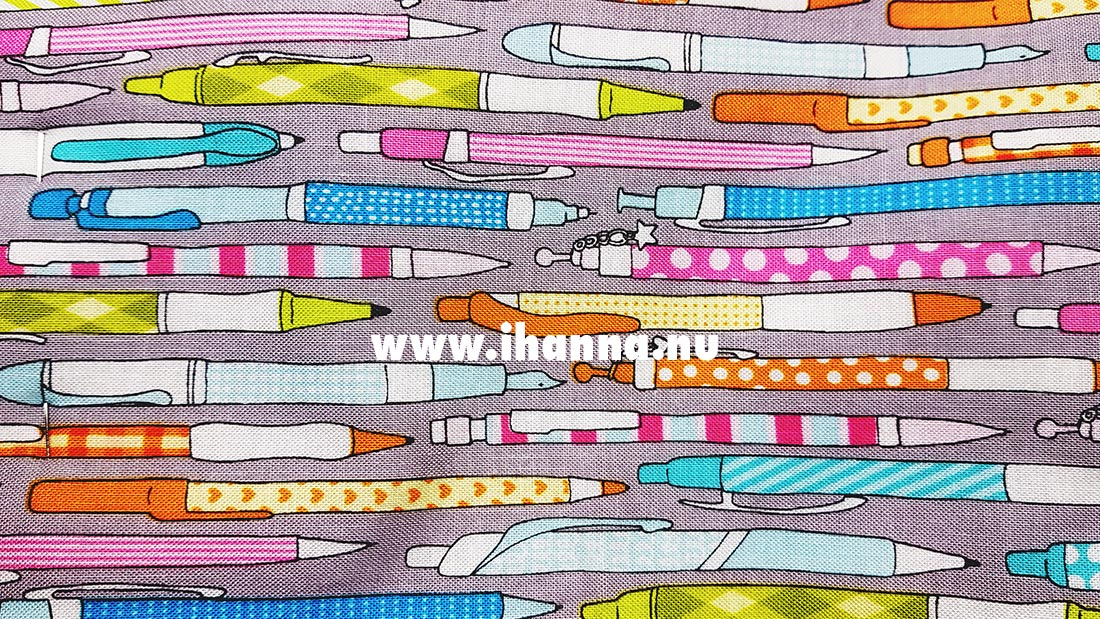 Sewing with pencil patterned fabric