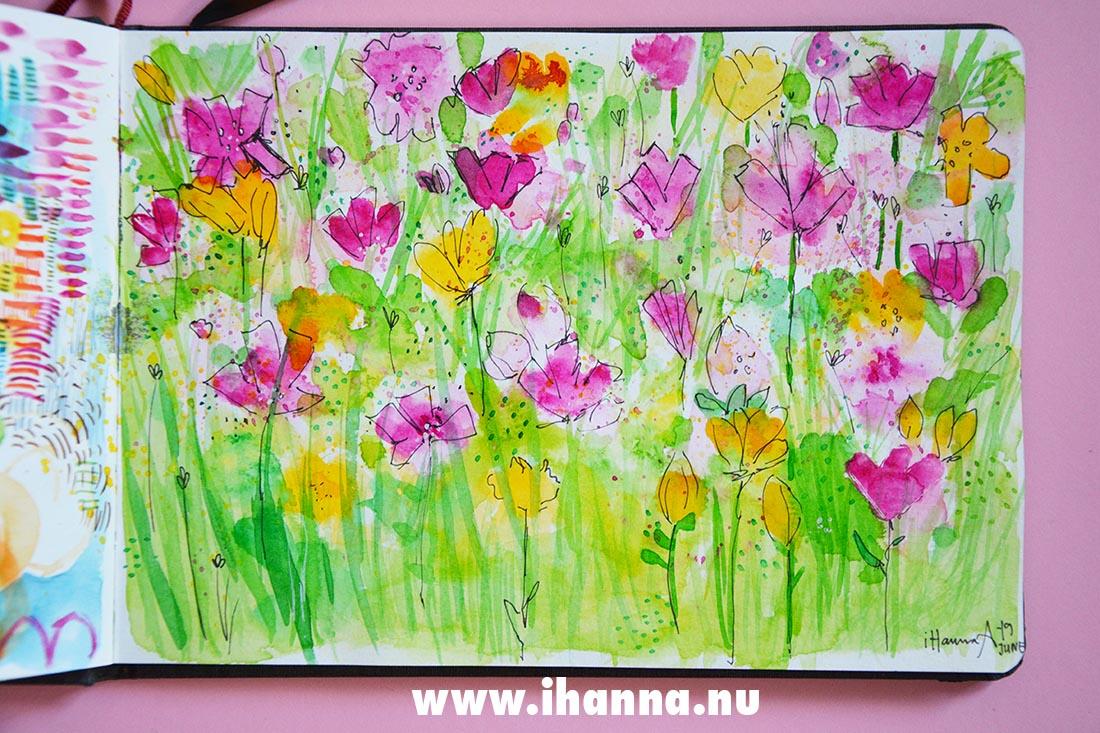 Watercolor in my Art Journal Hahnemühle Watercolor Sketchbook