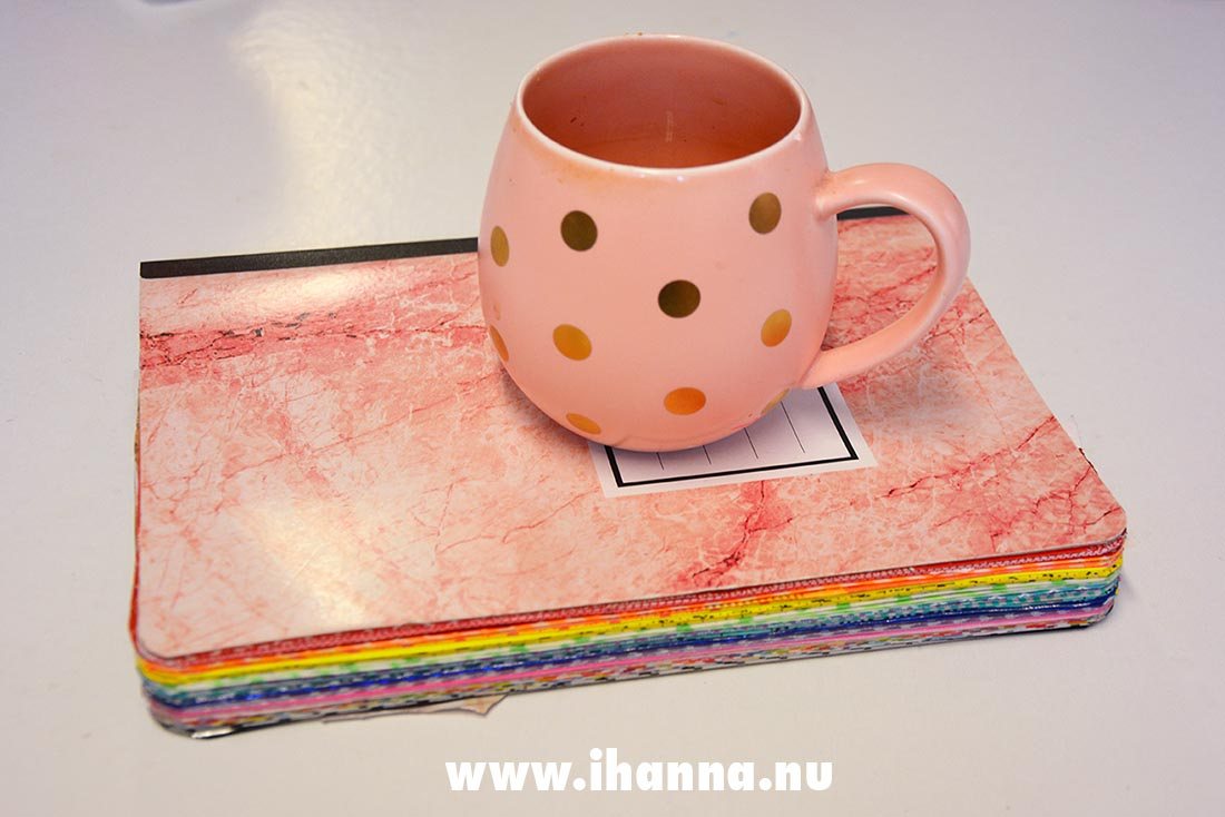 My studio mug and my Rainbow glue book match
