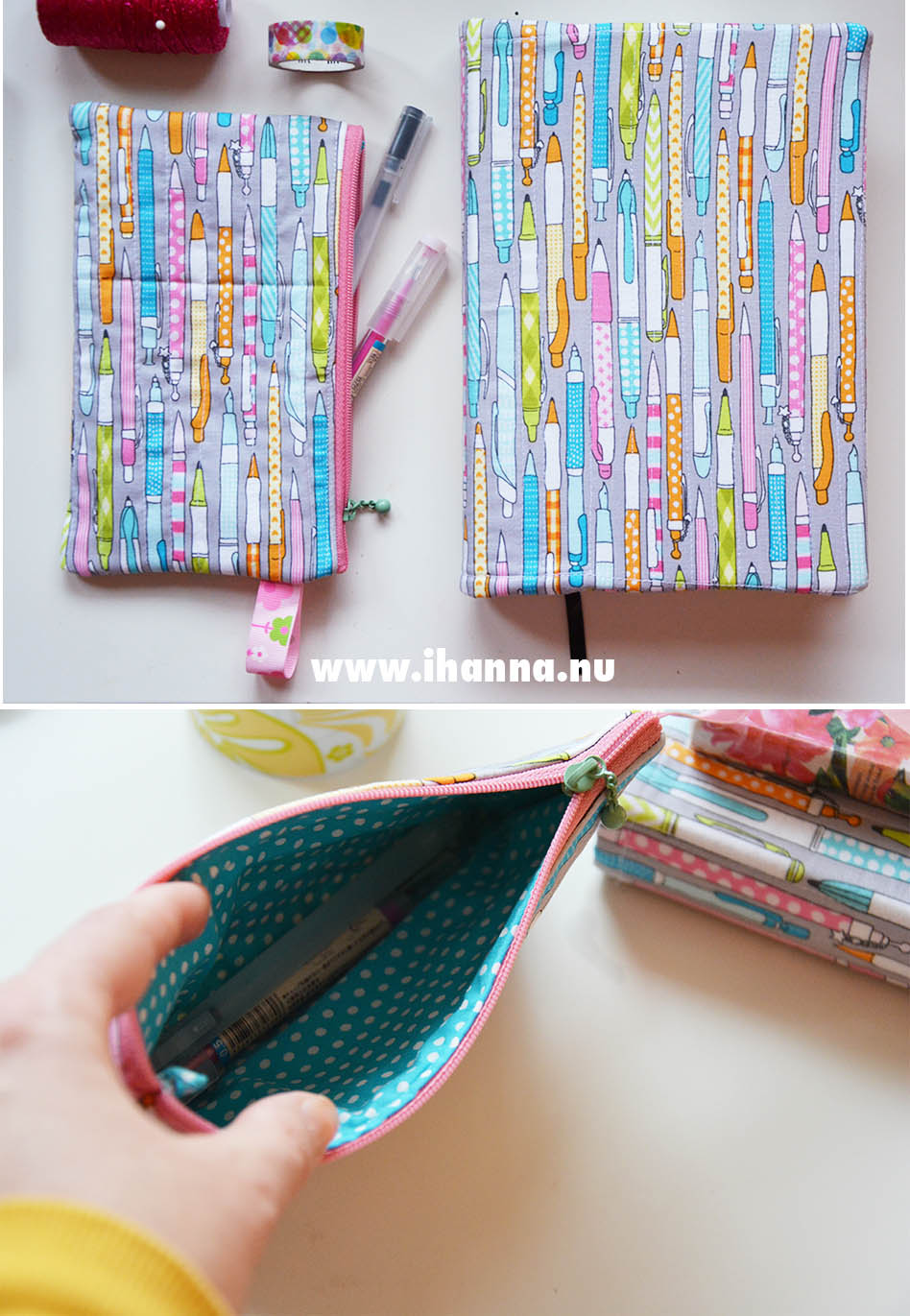 Pen case to go along with my diary sewn by mom - photo copyright Hanna Andersson