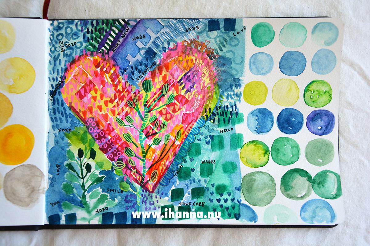 Heart painted 2020 by iHanna