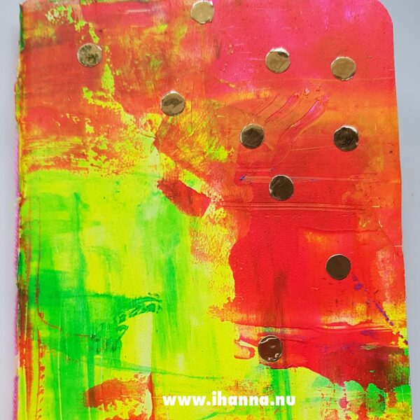 Little notebook with hand-painted cover by Hanna Andersson