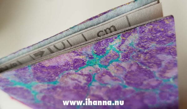 Purple power notebook with hand-marbled cover