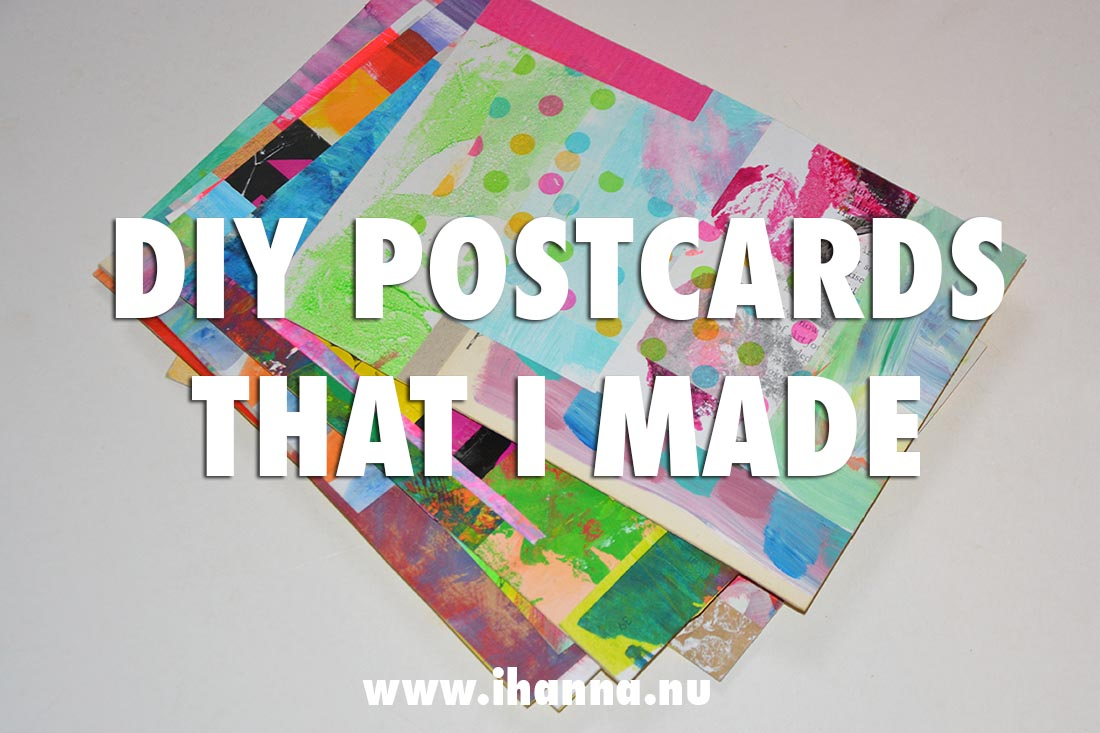 DIY Postcards that I made for the DIY Postcard swap 2020