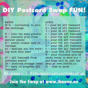 DIY Postcard Swap Fun challenge spring 2021 - share what you make with us #ihannaspostcardswapfun