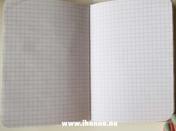 Grid papers inside the Details of the Sweet Notebook