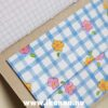Back pocket in the Sweet Notebook with grid paper inside – hand-made by Hanna Andersson