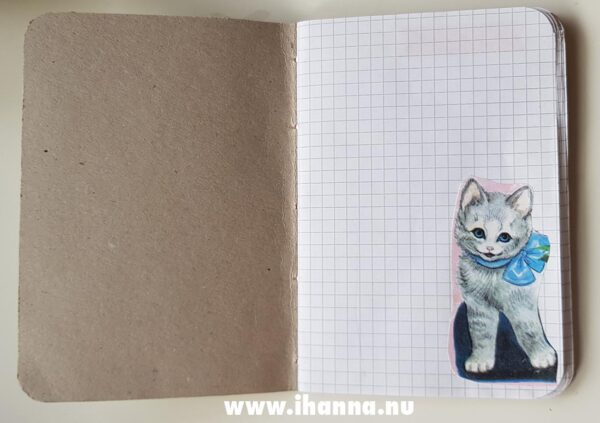 First page of the Sweet Notebook with grid paper inside – hand-made by Hanna Andersson