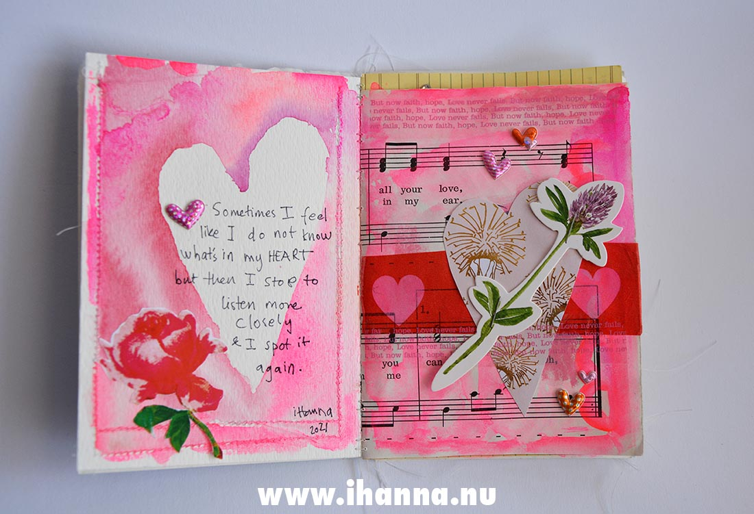 Fill a tiny journal page by iHanna Heart #fillatinyjournal