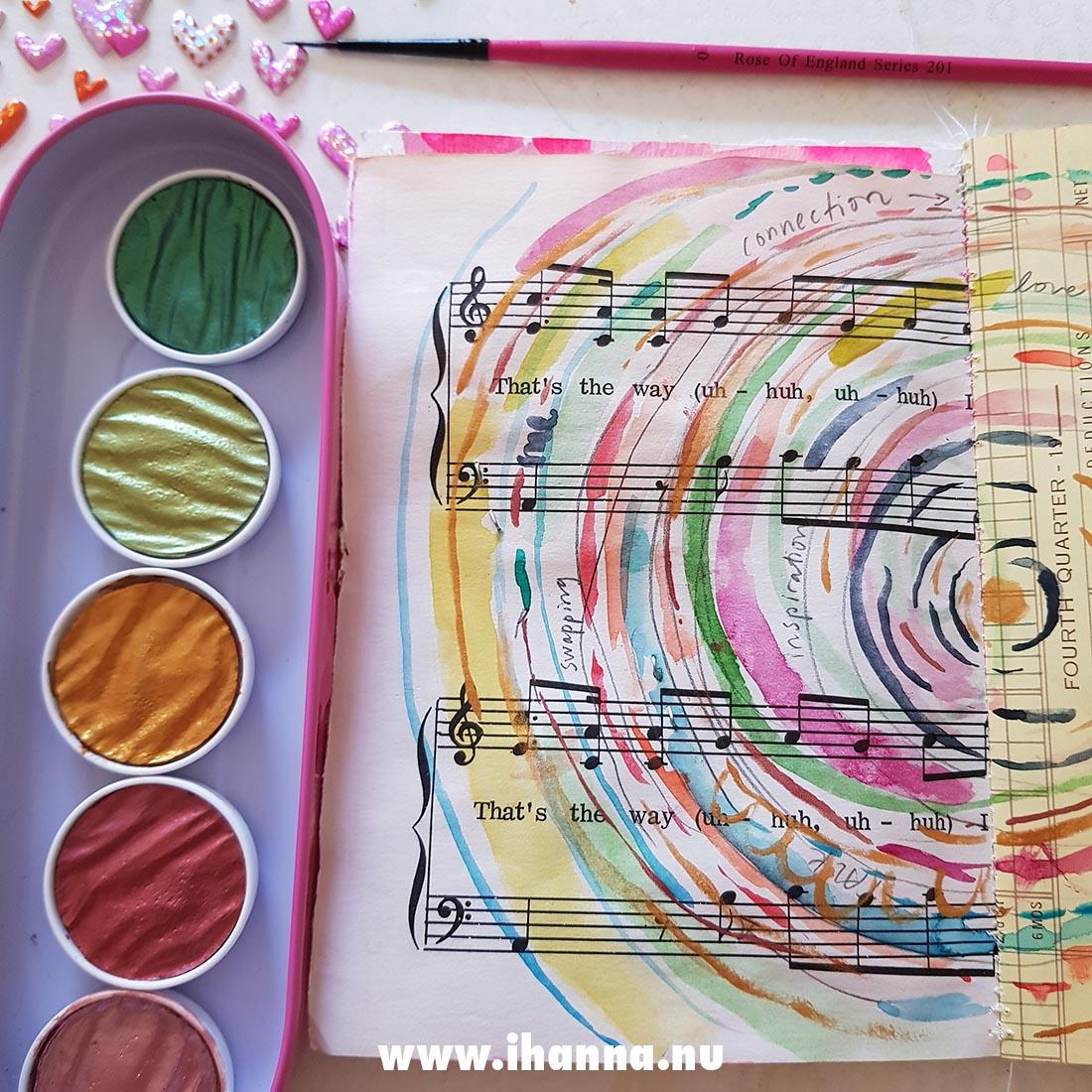 Birthday watercolors metallic sheen