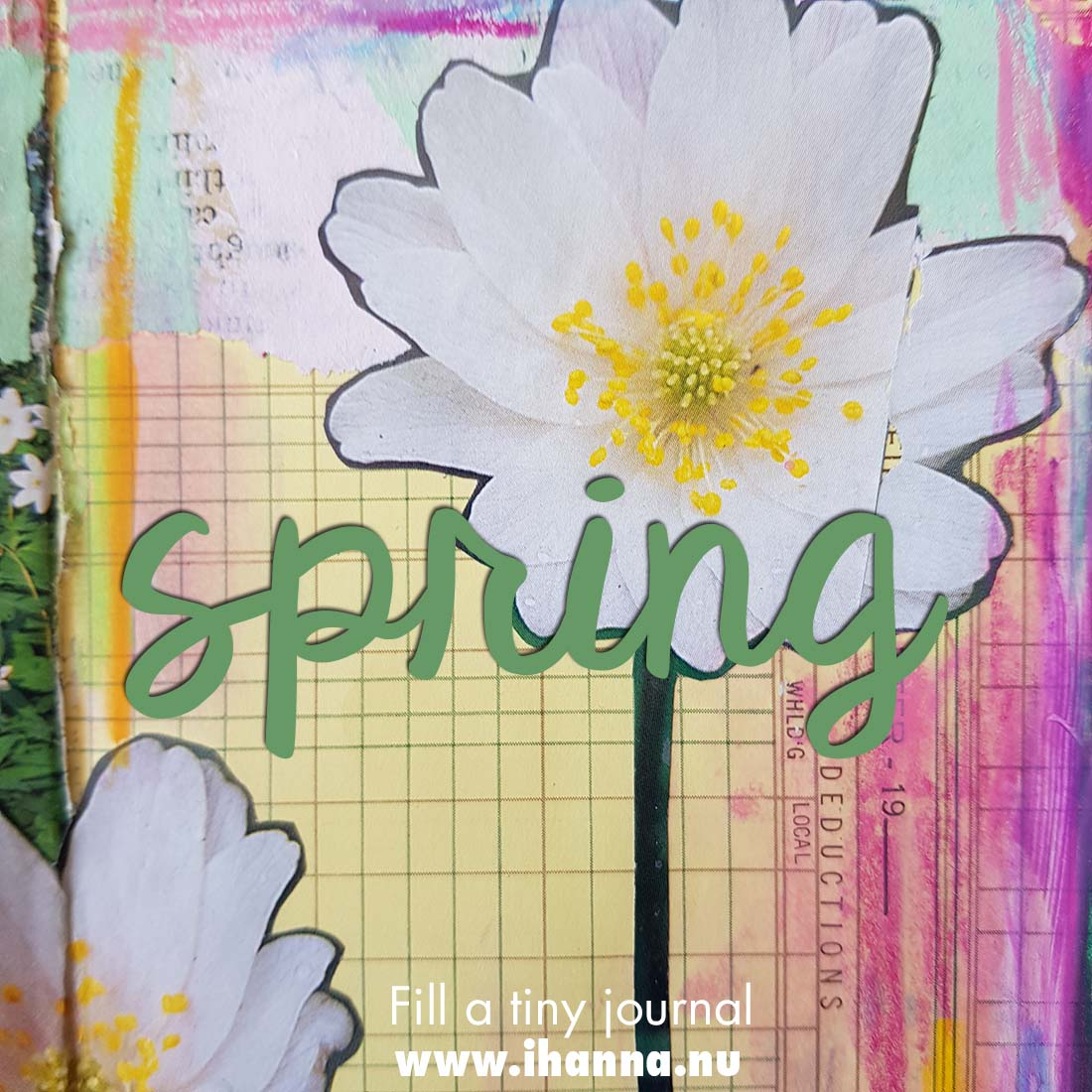 Fill a tiny journal (spring prompt presented) with Tammy and Hanna #fillatinyjournal