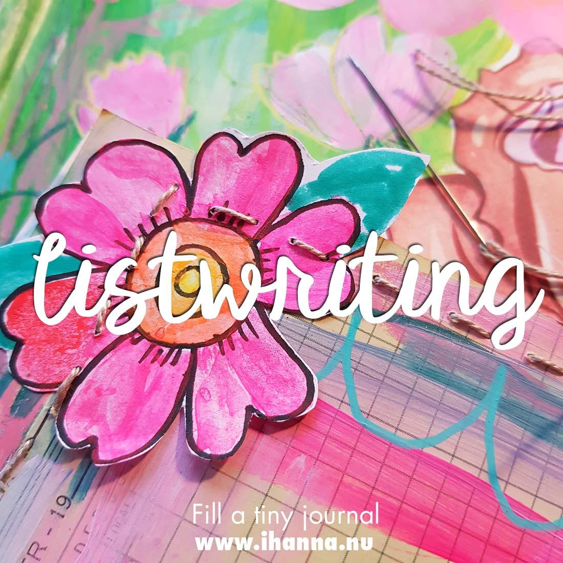 Fill a tiny Journal: Make a List