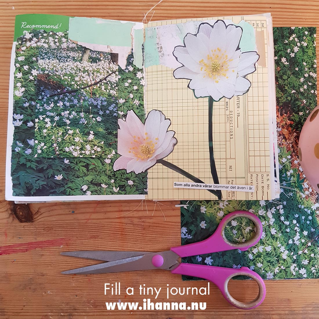 Fill a tiny journal (spring prompt presented) by iHanna #fillatinyjournal