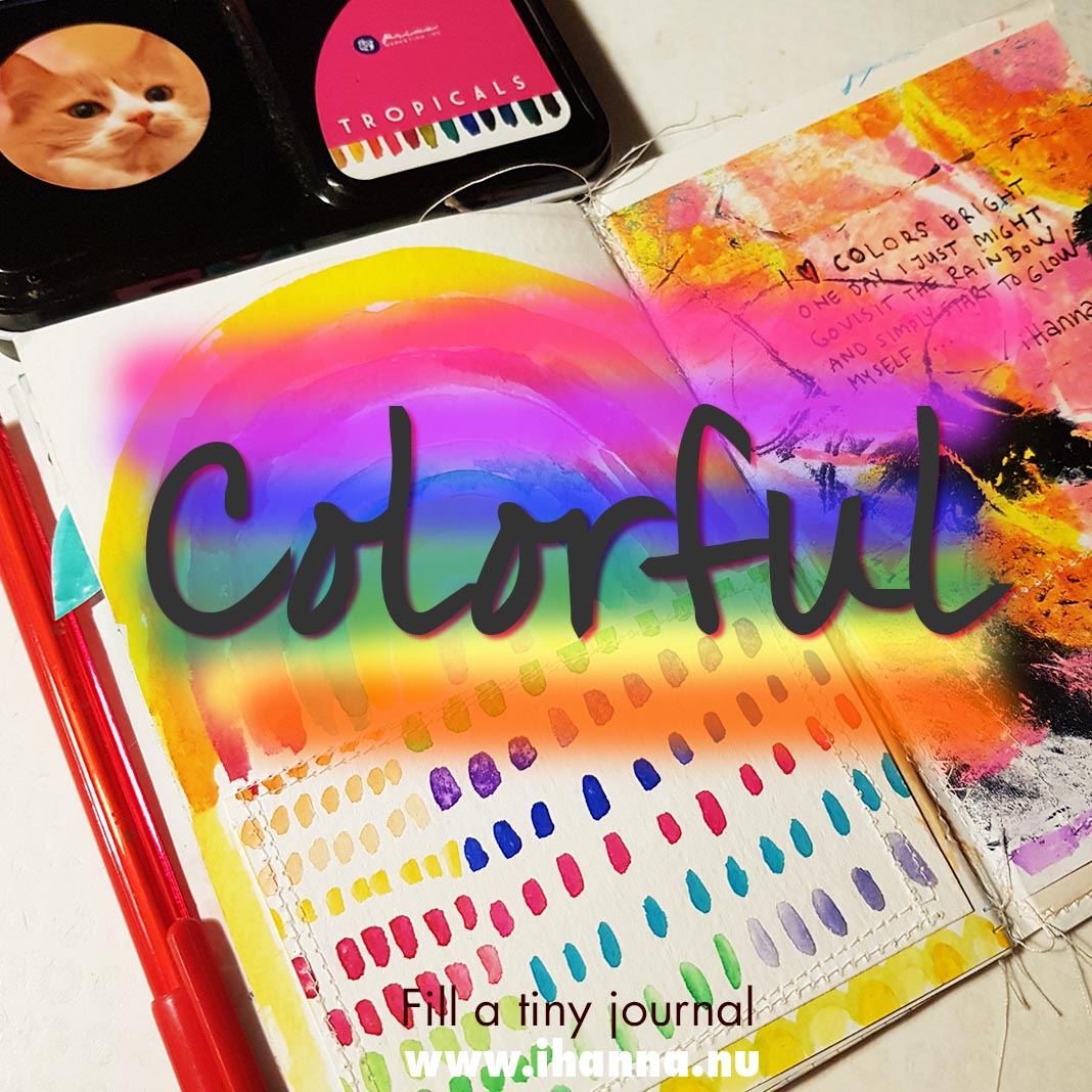 Fill a tiny journal: Colorful